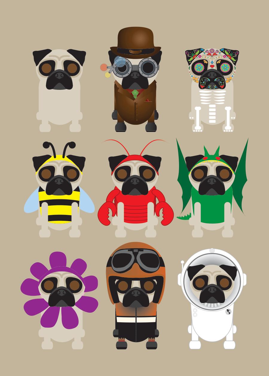 Multi Dog Prints