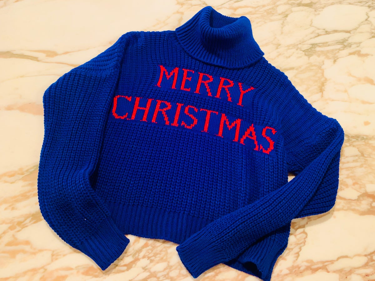 "Image of MAGLIA ""MERRY CHRISTMAS"" NERO"