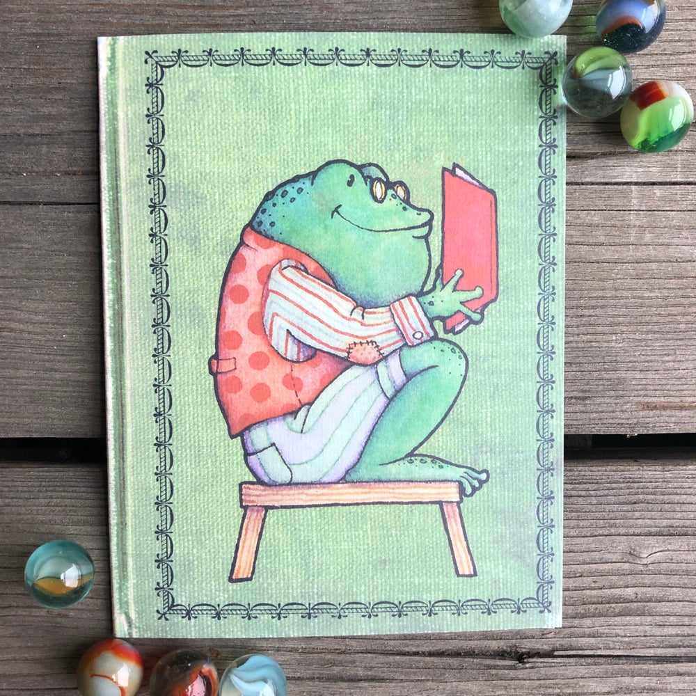 Image of Frog Book-lover Card