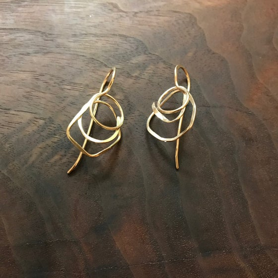 Image of Meandering path earrings
