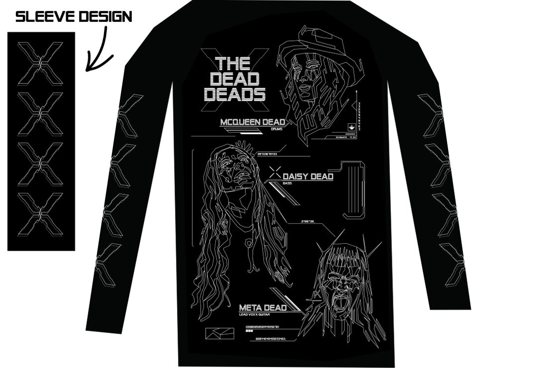 Image of Limited Edition The Dead Deads Schematics Tee by Polygon Nightmare