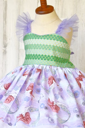 Image of Little Mermaid Watercolor Dress
