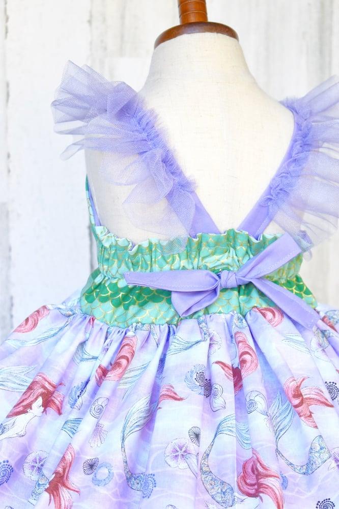 Image of Little Mermaid Watercolor Dress