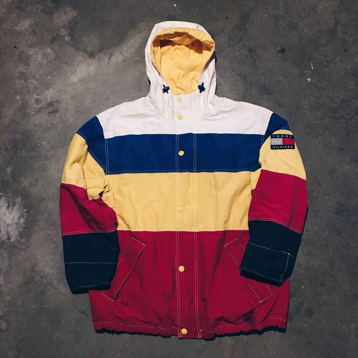 Image of Original 90's Tommy Hilfiger Color-Block Jacket.