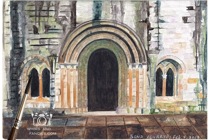 Image of Scotland Print - Weathered Abbey Ruin