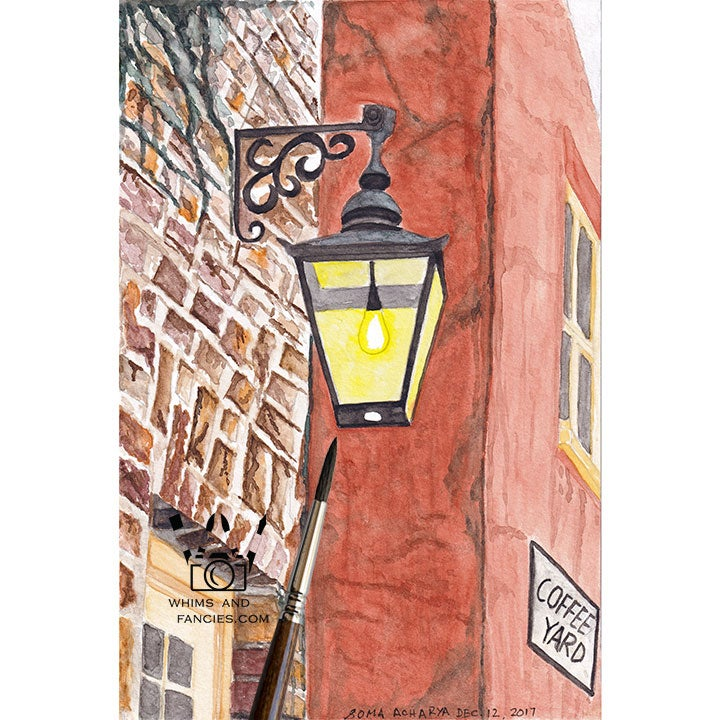 Image of Old English Historic City York Street Light