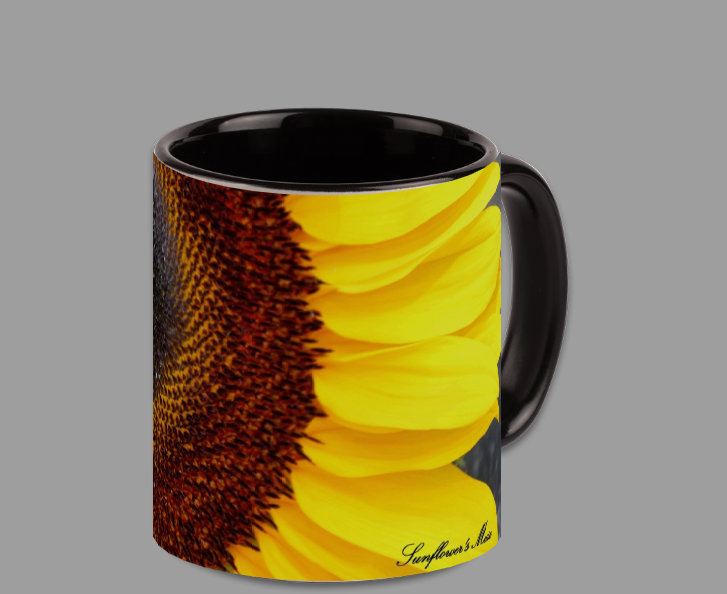 Sunflower Coffee/Tea Mug (Black or White)