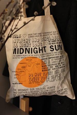 "Image of ""MIDNIGHT SUN"" TOTE BAG / TØYNETT"