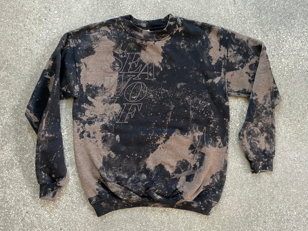 Image of Bleach-Dye Sweatshirt - band made, limited run