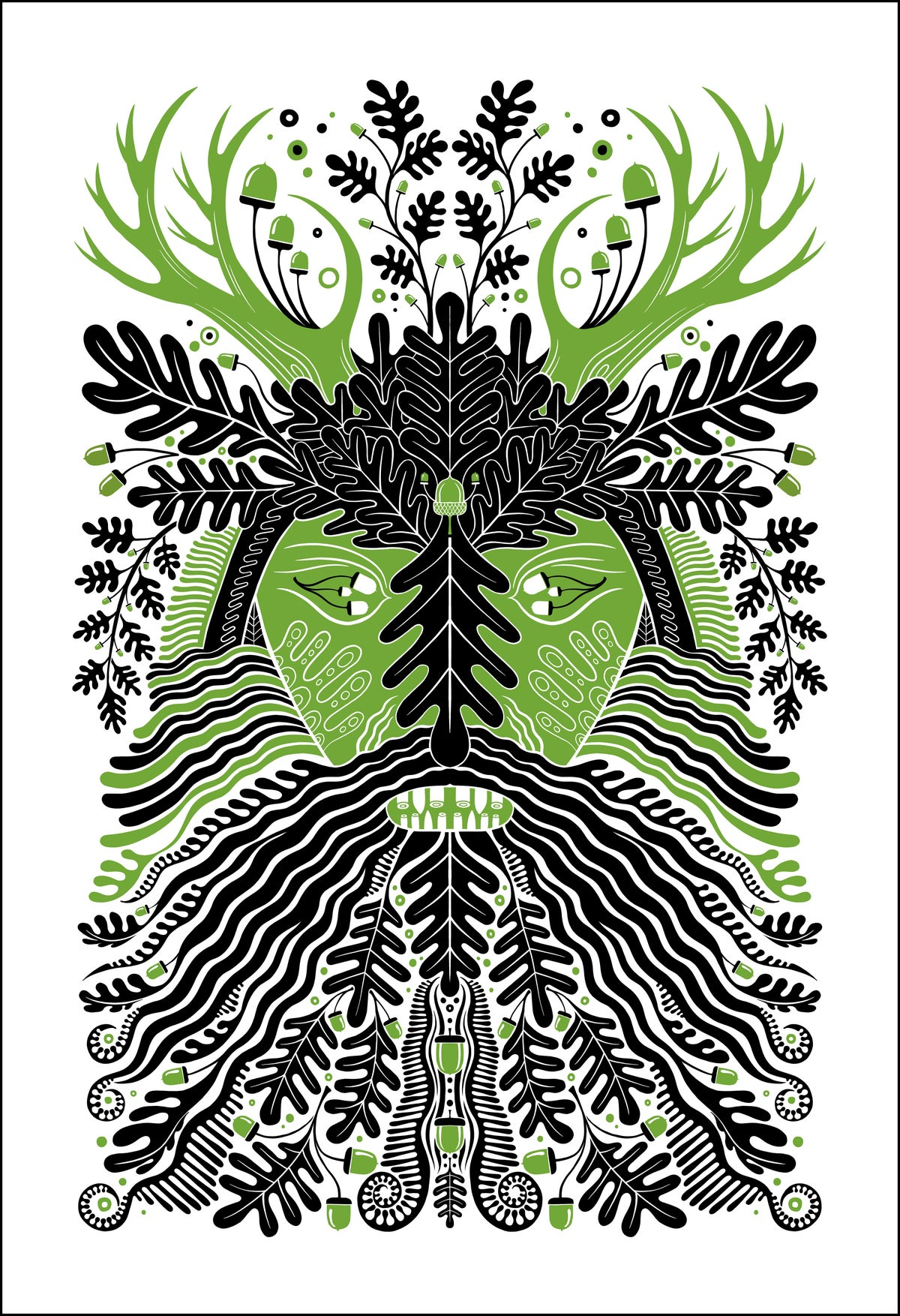 Image of Oak King Print