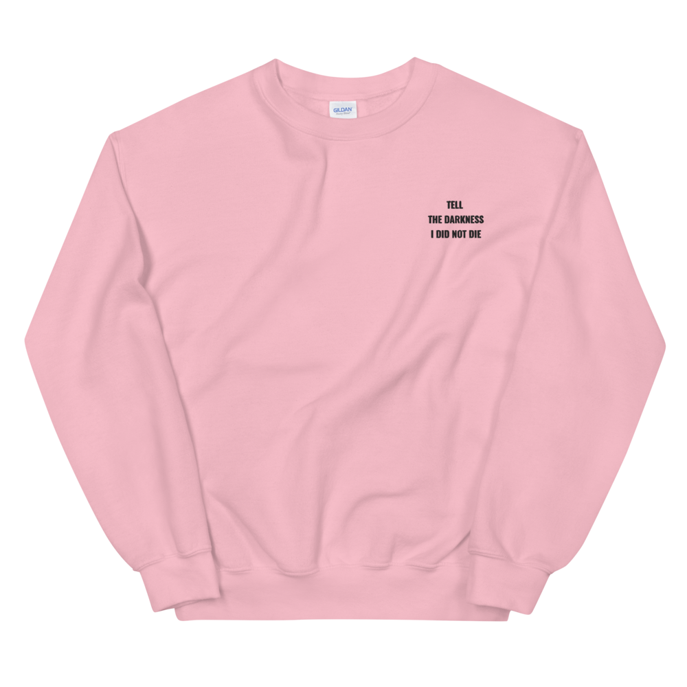 Image of Tell the Darkness Embroidery Sweatshirt