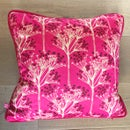 Image 1 of Pink Sprigs Velvet Cushion