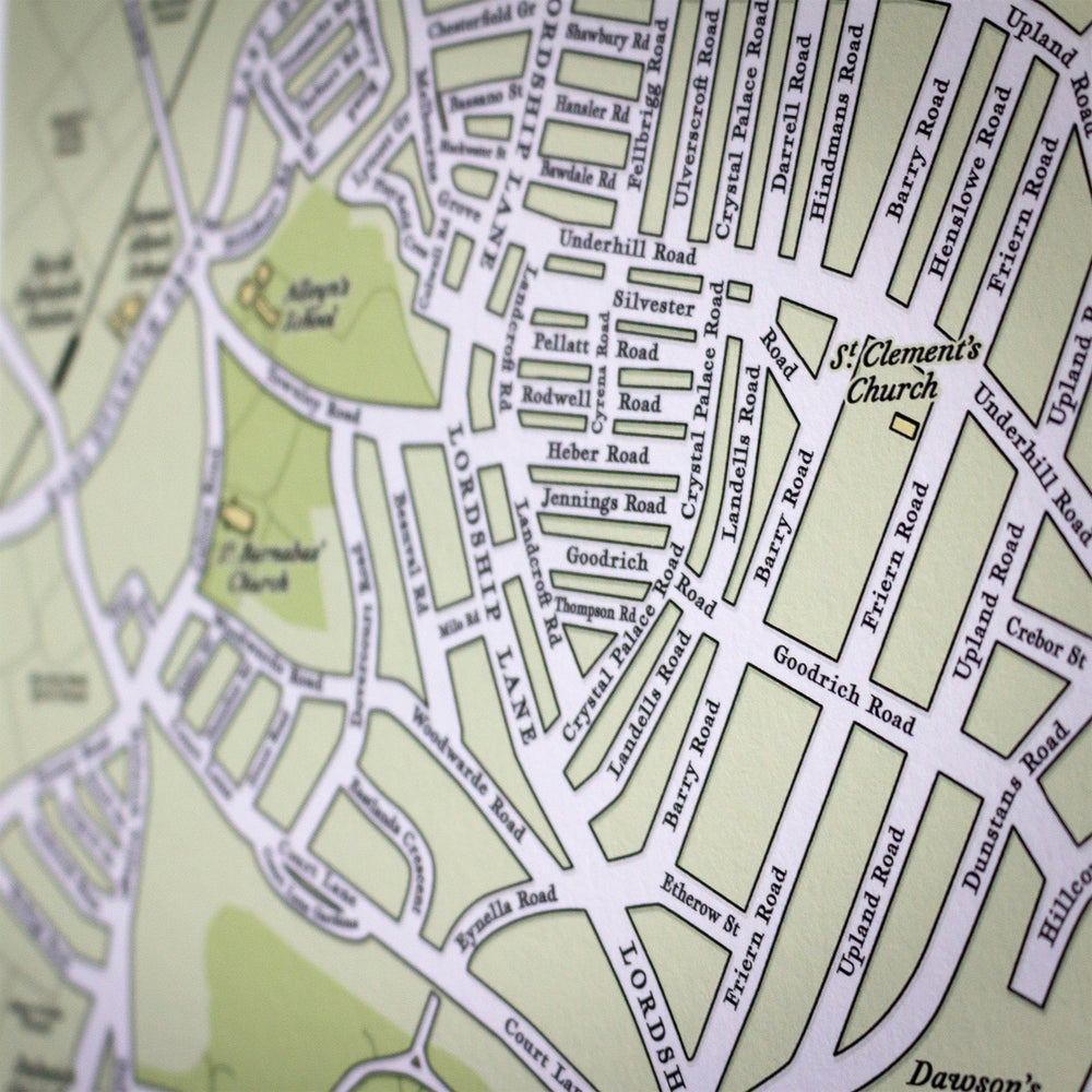 Image of One Hundred Years Map trio – East Dulwich & Dulwich Village