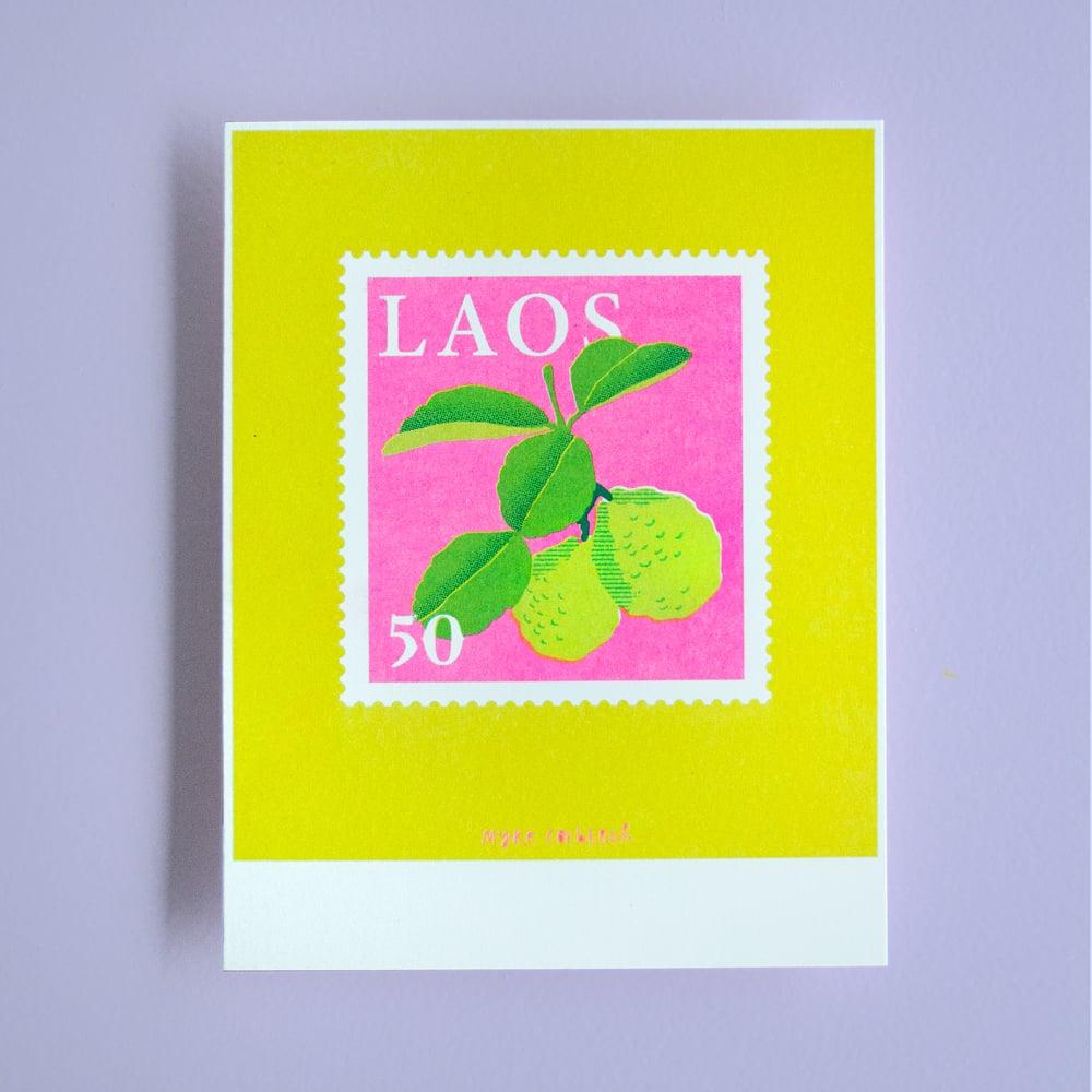 Image of Risoprint Stamp of Laos