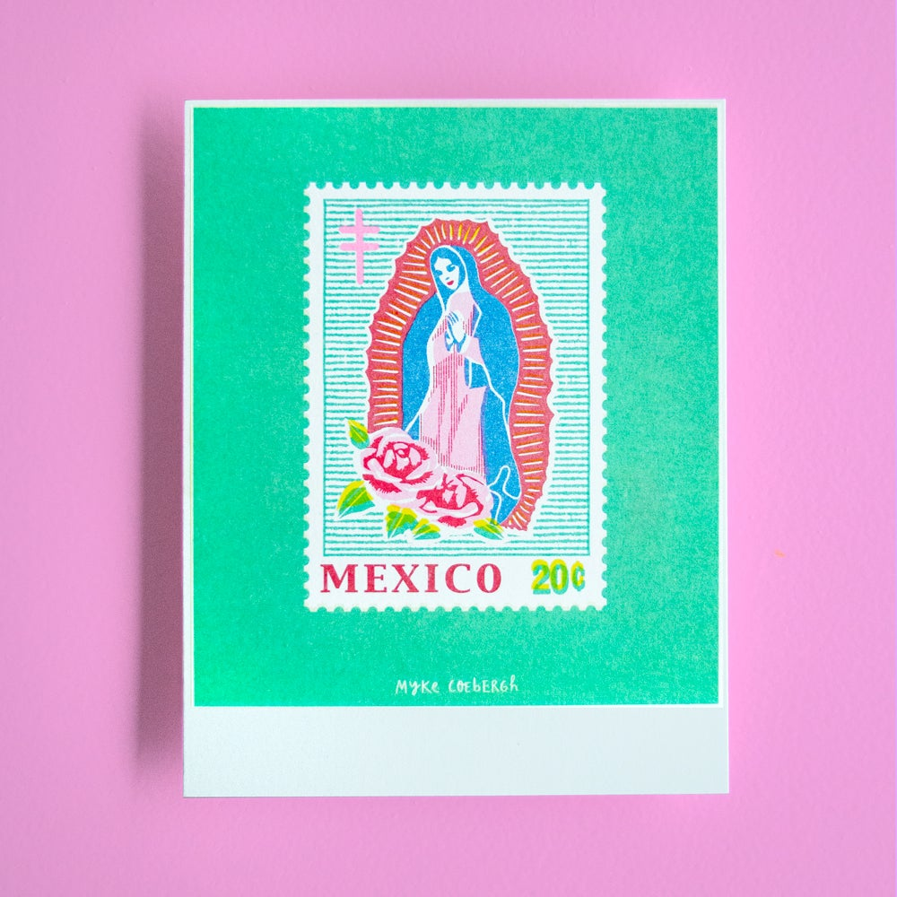 Image of Risoprint Stamp of Mexico