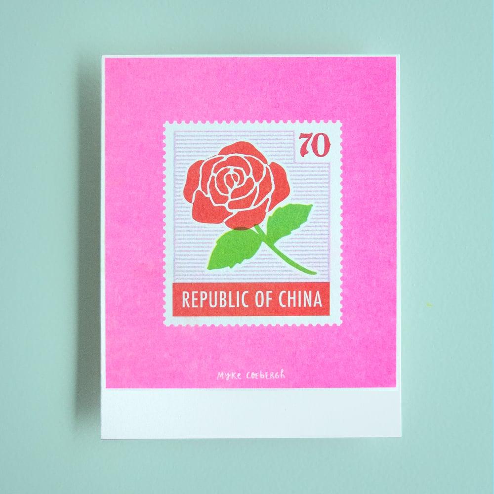 Image of Risoprint Stamp of China