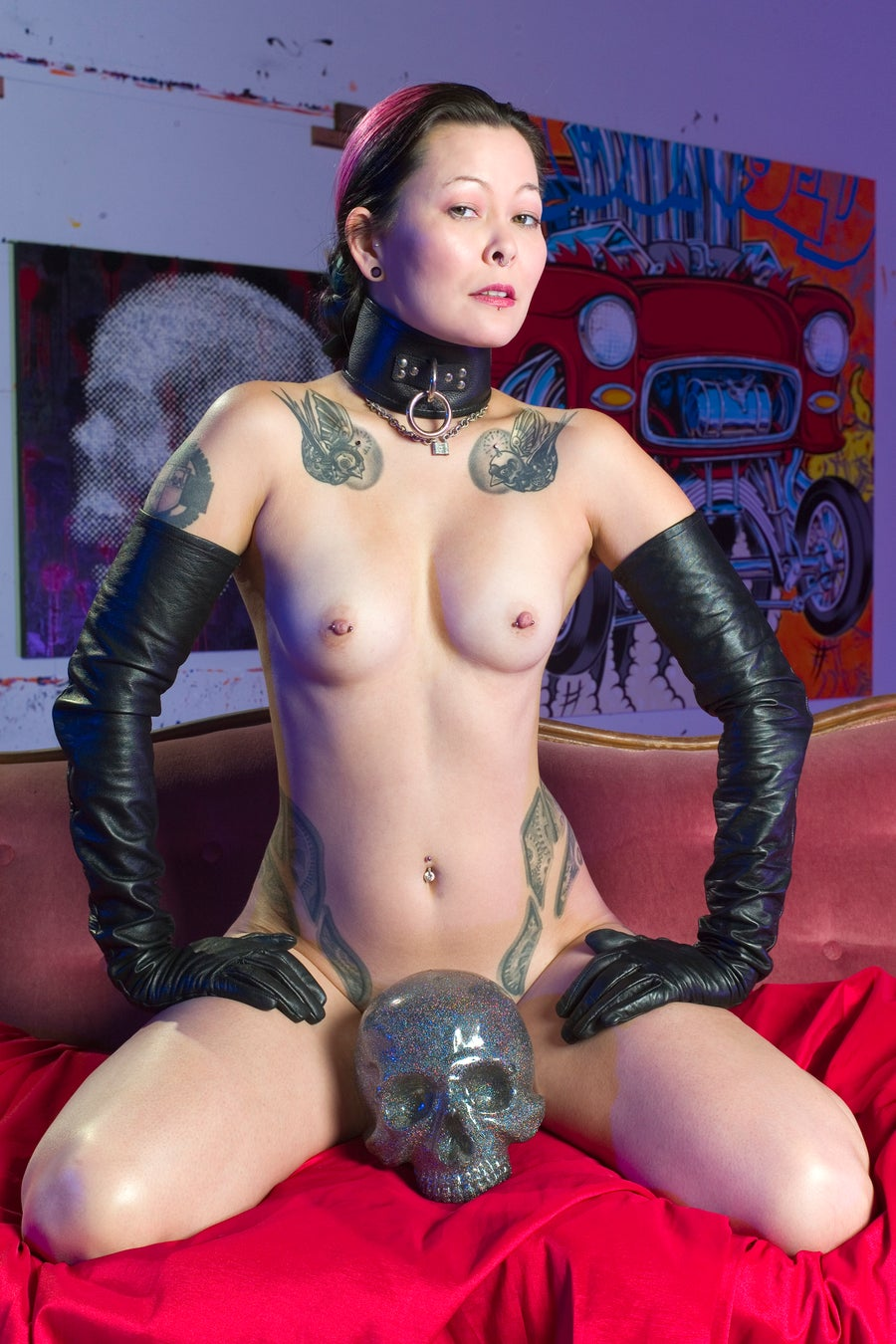 "Image of Industrial Girl - ""Skull"" Photo Print"