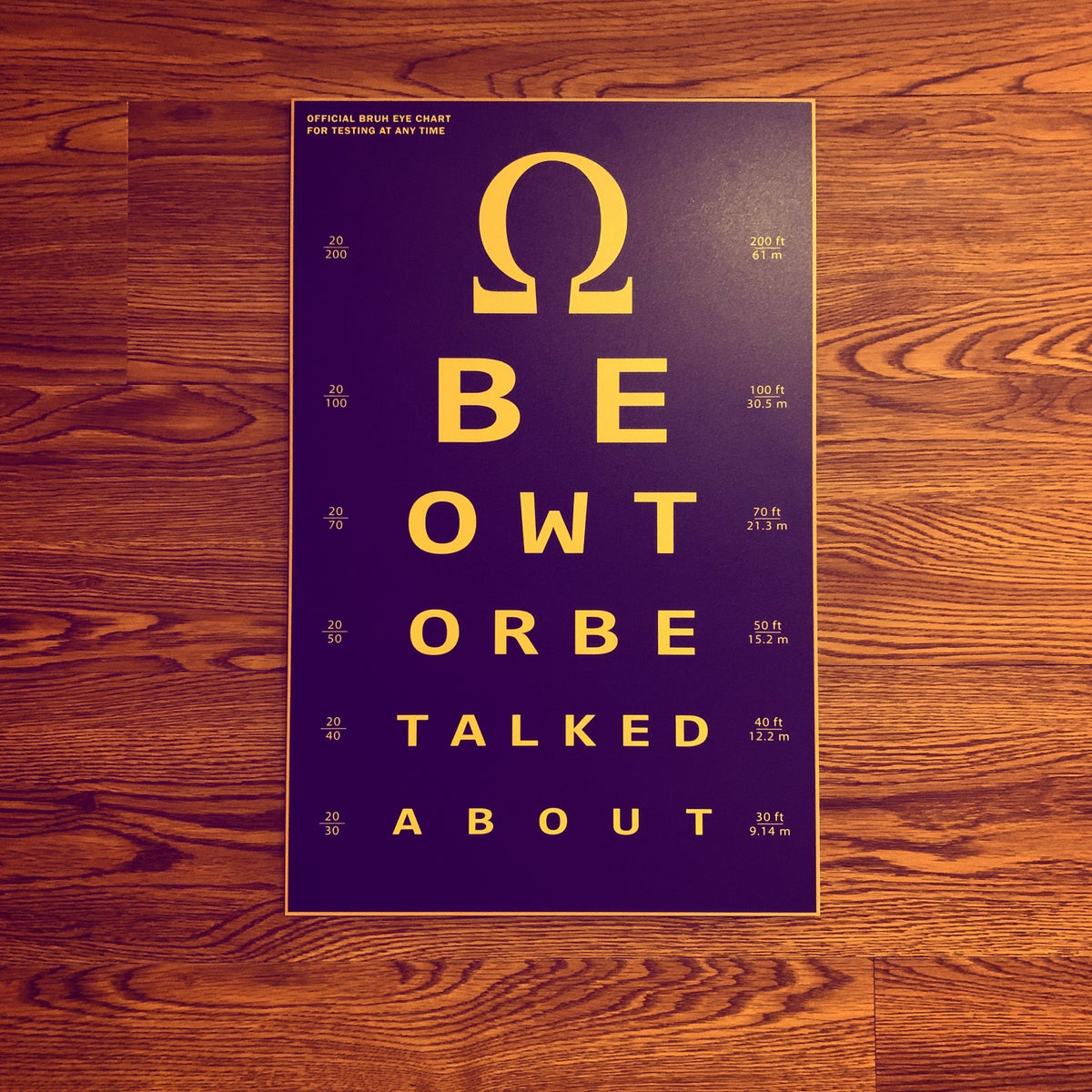 Image of Metal Eye Chart