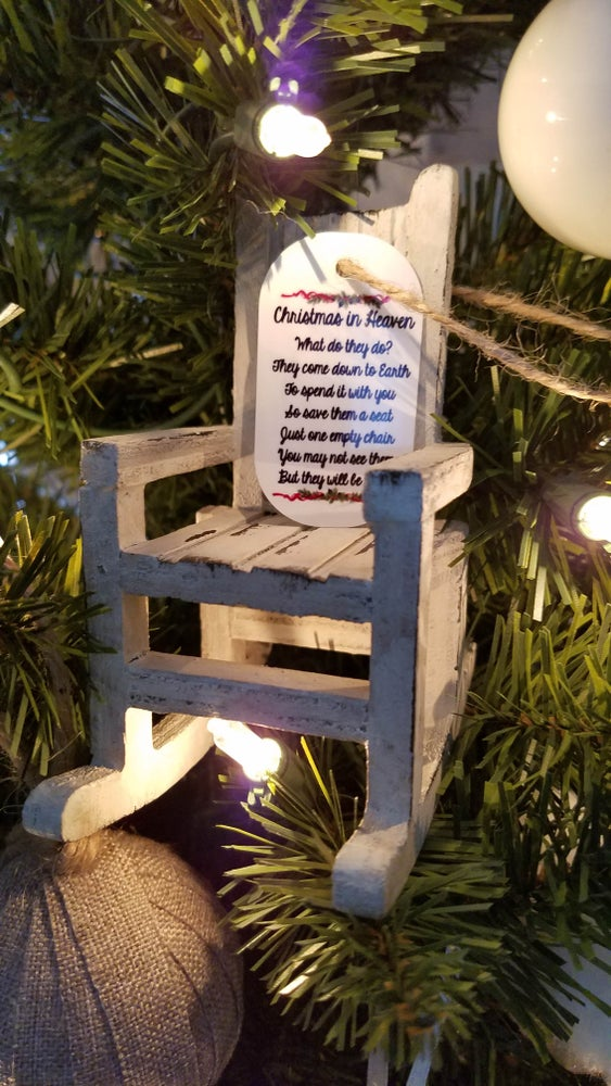 Image of Personalized Christmas In Heaven Ornament