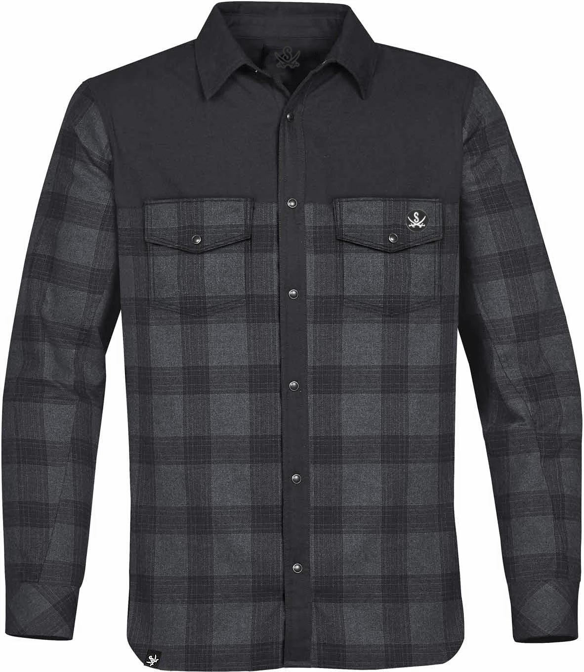 Image of INSULATED PLAID BUTTON UP