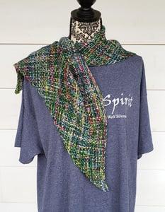 Image of Blue Ridge Spring, shawl, handwoven