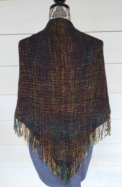 Image of Fireworks, shawl, handwoven