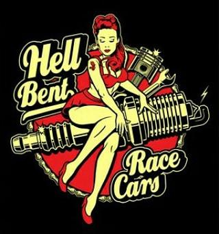 Image of Hell Bent Pin Up Decal