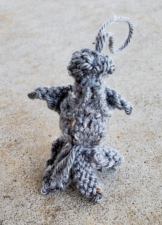 Image of Stone Angel, ornament, handwoven