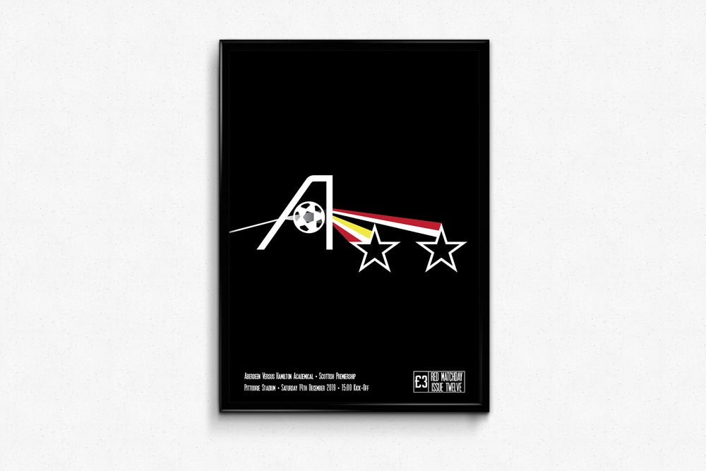 Image of Aberdeen FC - RedMatchday Print - Red Side of the Moon