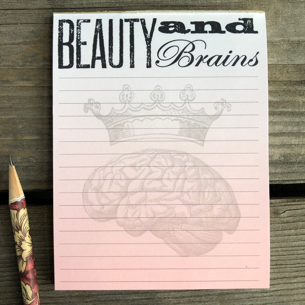 Image of Beauty and Brains Notepad