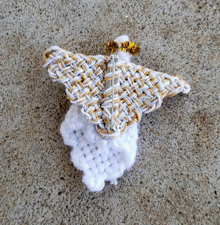 Image of Angel Pin, brooch, handwoven