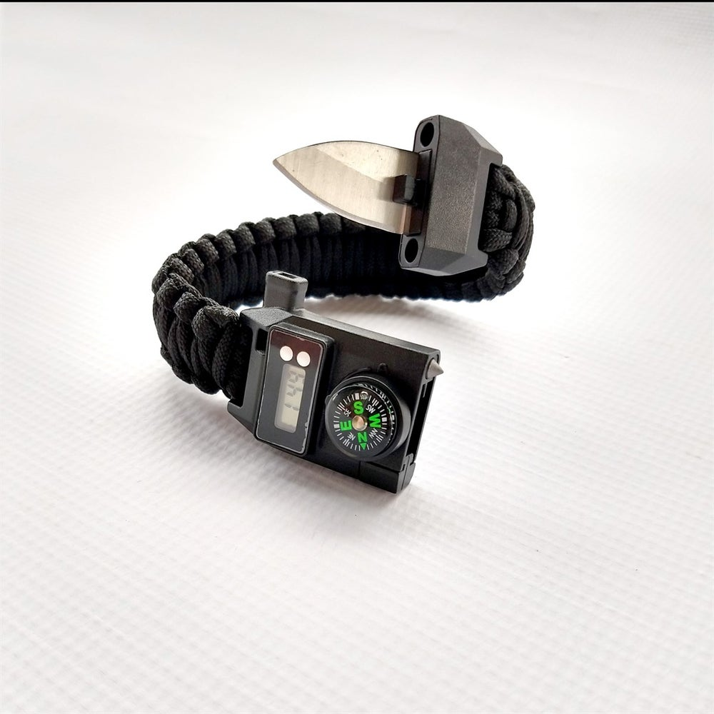Image of Digital Clock Multi Tool Survival Bracelet