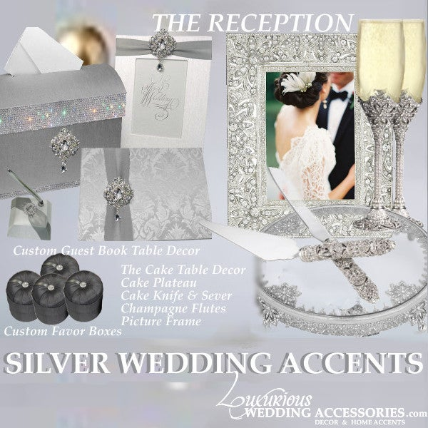Image of Silver Wedding Accents from Luxurious Wedding Accessories