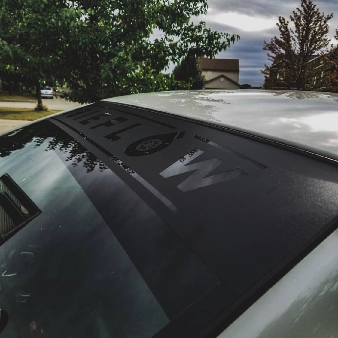 Image of Reverse Cut Windshield Banners