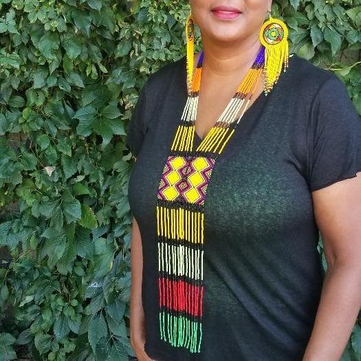 Image of Nubian Fringed  Necklace
