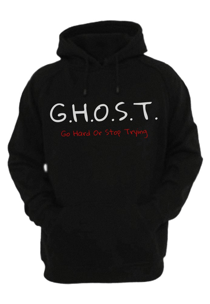 Image of Nino Cruz x G.H.O.S.T Hoodie (Black) x Gilden (PRE-ORDER NOW)