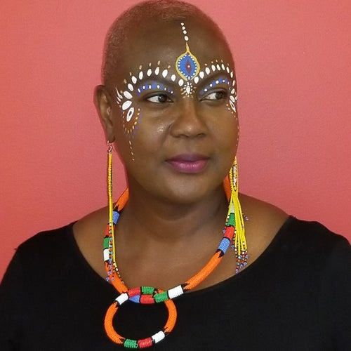 Image of African Beaded Rope Necklace and Bangle Set