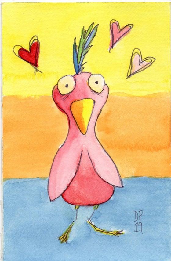 """Image of """"Love Sick"""" original watercolor painting by Dan P."""