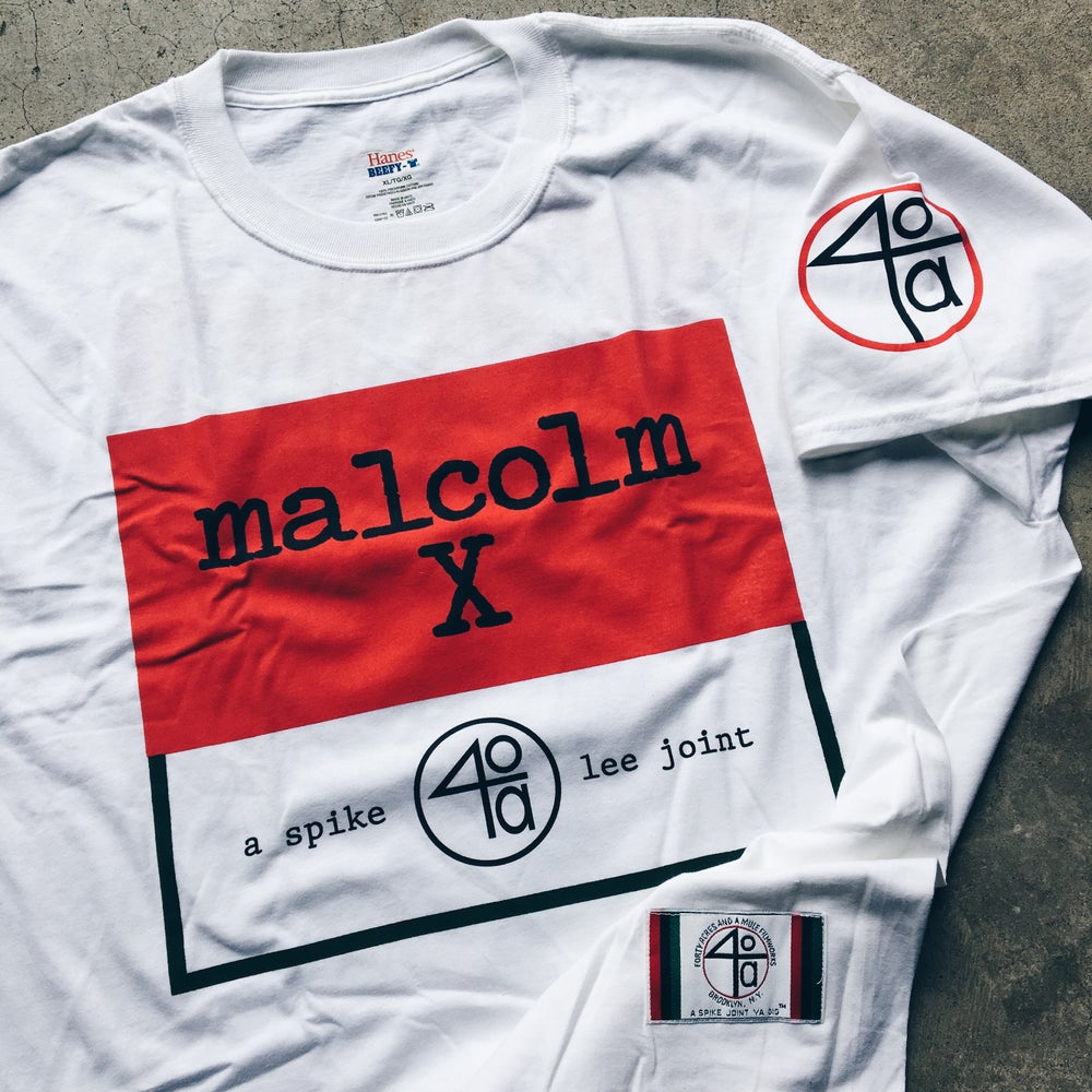 Image of Original 2012 Spike Lee 40 Acres Malcom X 20th Anniversary Promo Tee.