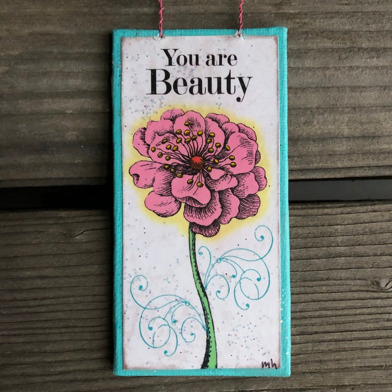 Image of You Are Beauty Mini Hanging Canvas
