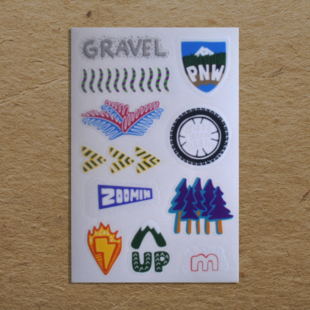 Image of PNW Cycling Sticker Sheet