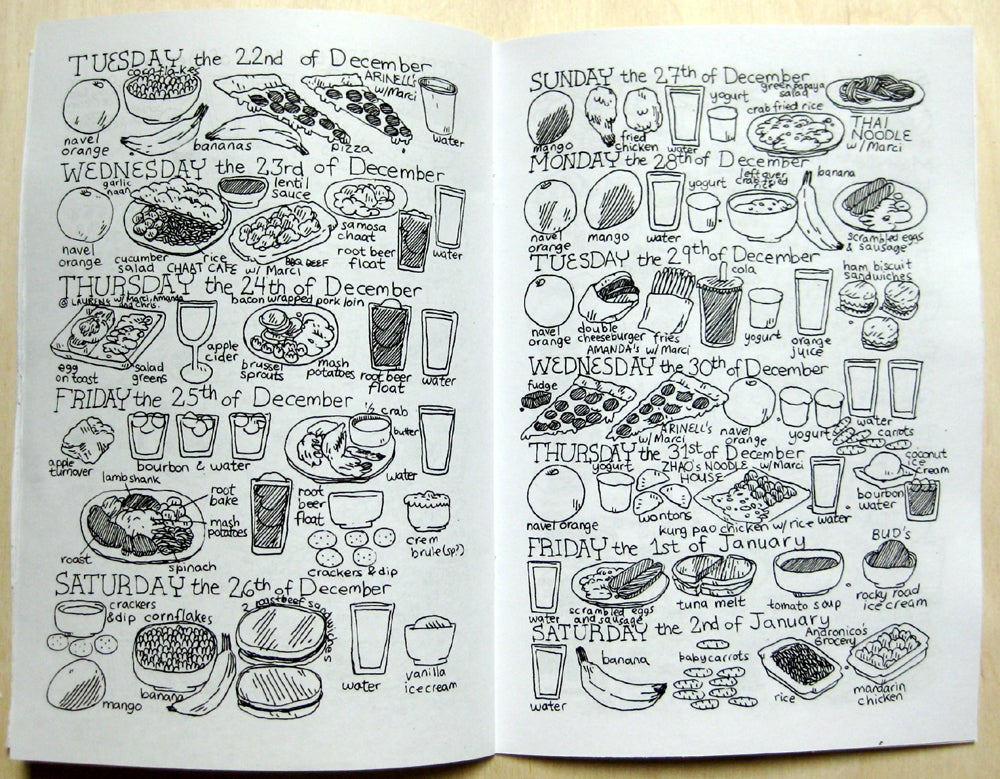 Image of The Various Things I Eat Zine