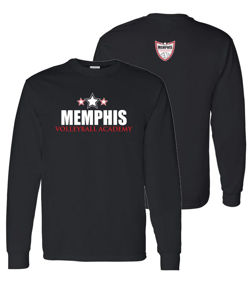Image of Memphis Volleyball Academy ORIGNAL LOGO Long Sleeve Tshirt - (Multiple Color Options)