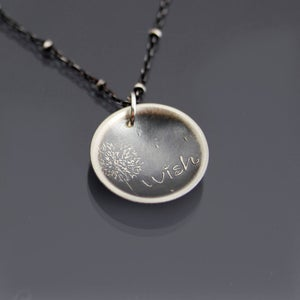 Image of Sterling Silver Dandelion Wish Necklace