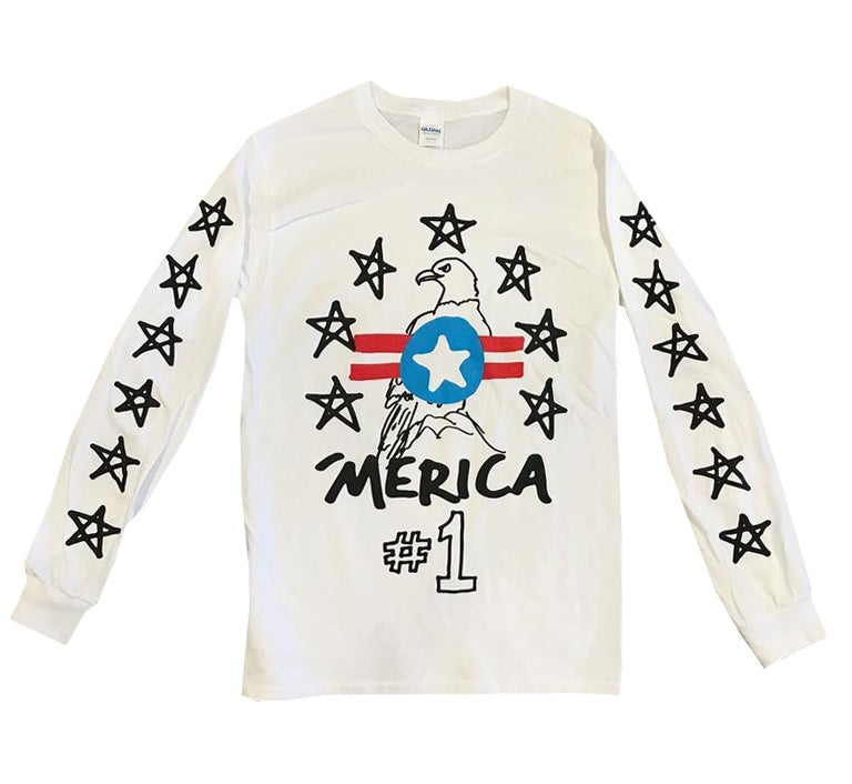 Image of 'Merica #1 Long Sleeve Tee - HELLA LIMITED EDITION