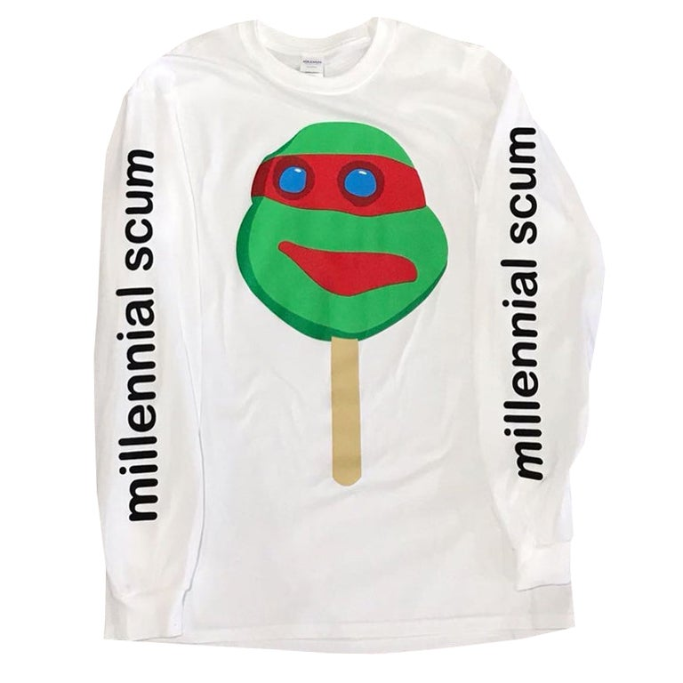 Image of Millennial Scum Long Sleeve Tee - HELLA LIMITED EDITION