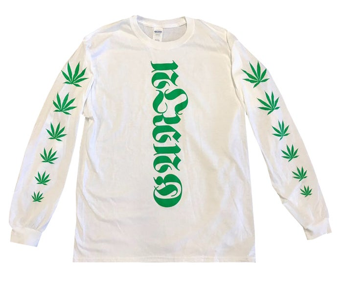 Image of Ganja Script Stoner Long Sleeve Tee - HELLA LIMITED EDITION