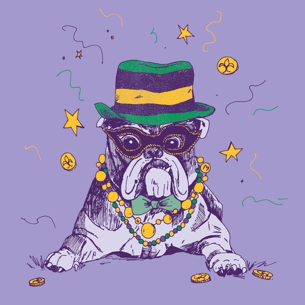 Image of Adult Mardi DAWG (Bulldog) long sleeve tee