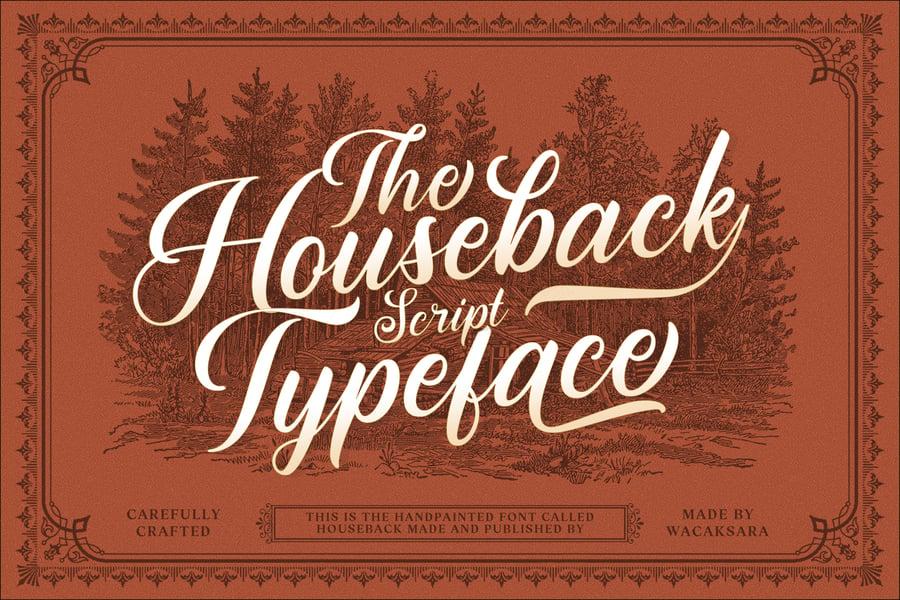 Image of Houseback Script