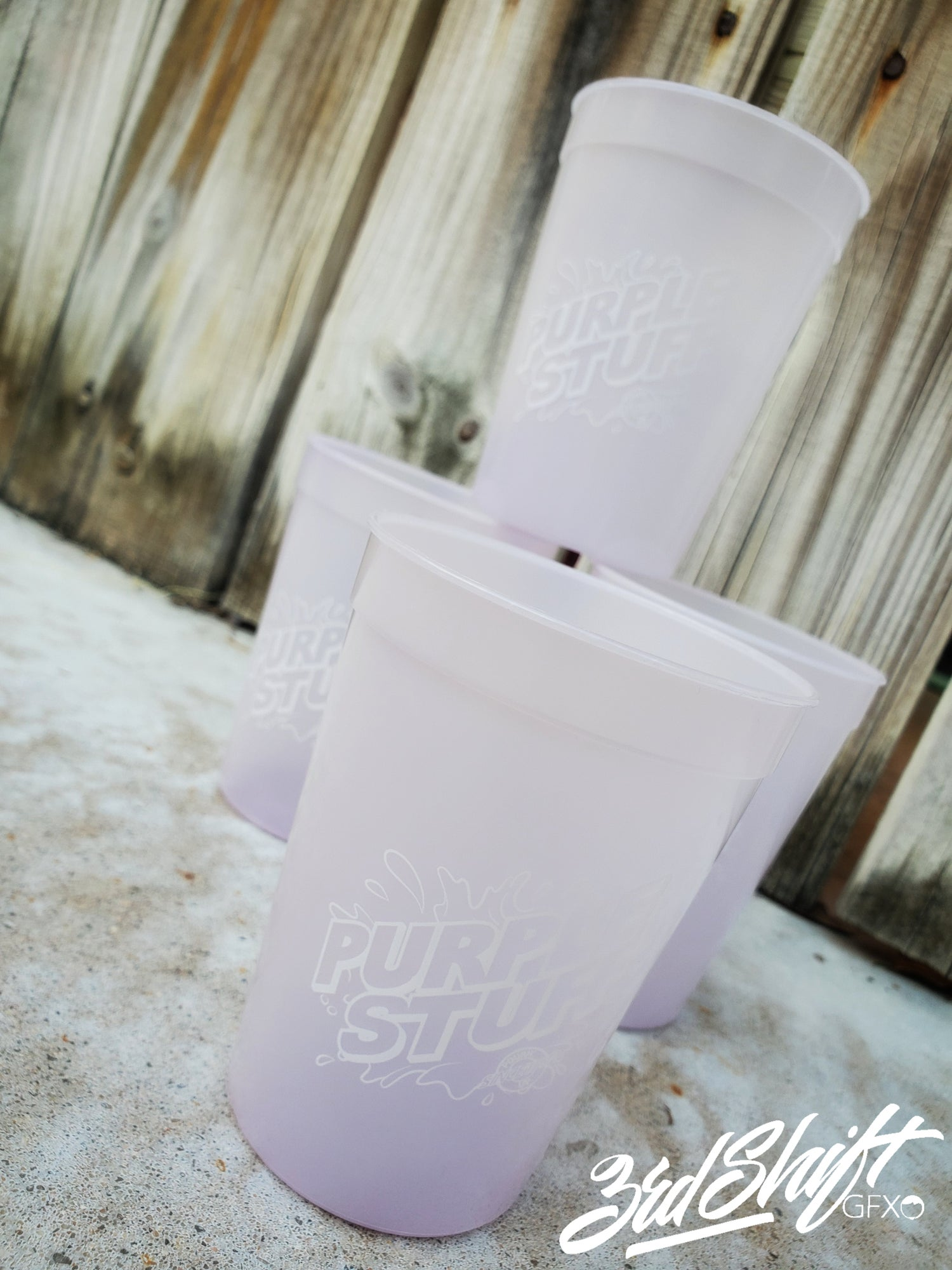Image of Purple Stuff 12 oz stadium cups (12 OZ)